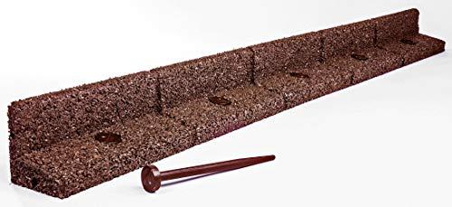 EcoShape FlexiBorder - das Flexible Rasenkantensystem (6 x 1 Meter, Braun)