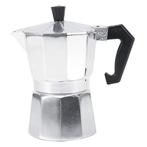 Pangdingk Kaffeekanne, 3/6/9/12 Tassen Aluminium italienische Art Moka Topf Espressomaschine Herd Home Office Gebrauch heiß(150ML 3cups)