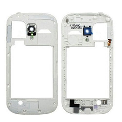 CHENZHIQIANG Best Replacement Parts Frame Bezel Plate Case for Samsung Galaxy Middle Frame Bezel Back Plate Housing Camera Lens Panel for Galaxy SIII Mini / i8190(Black) (Color : White)