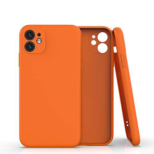 Coque pour iPhone 11 pro max Case en Silicone Gel TPU Souple Slim Protection Coin Housse Bumper Anti-Choc Cover Coin Housse pour iPhone 11 pro (orange)
