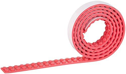 infactory Bauspielzeug: Selbstklebendes Spielbaustein-Tape für gängige Systeme, 1 m, rot (Spielzeug)