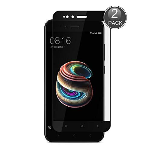 E-Hamii Película Cobertura Completa Compatible con Xiaomi Mi 5X/A1[Negro],[Pantalla Completa Pegada][Antiarañazos] Cubierta Protectora Vidrio Templado Premium 9H Premium,para Xiaomi Mi 5X/A1