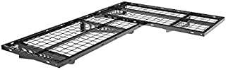 FLEXIMOUNTS 2-Pack 2x4ft Garage Storage Rack Corner Wall Shelf Floating Shelves 24-inch-by-48-inch, Black