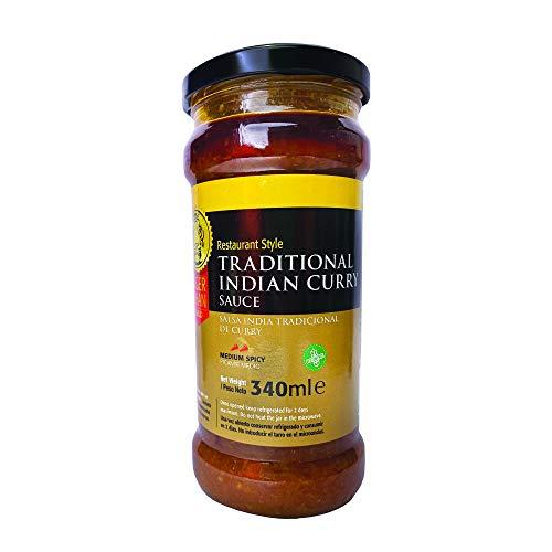 TIGER KHAN Salsa india tradicional con curry (Curry sauce) 340ml