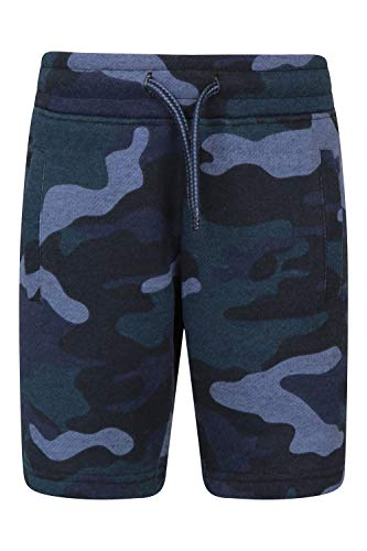Mountain Warehouse Kids Jersey Camo Printed Shorts - Lightweight Summer Shorts for Boys & Girls. Easy Care Material. Durable & Great for Outdoors & Holidays Camouflage 11-12 Jahre