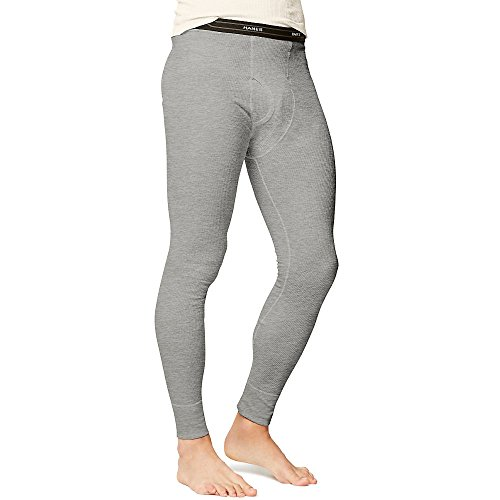 Hanes Men's Big Red Label X-Temp Thermal Pant, Heather Grey, Medium