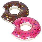 WENTS Schwimmring Donut mit Biss 70cm Floating-Ring Riesen Donut Aufblasbar Ring Luftmatratze Reifen Schwimmreifen für Erwachsene und Kinder, Aufblasbarer Luftmatratzen für Party, Pool,...