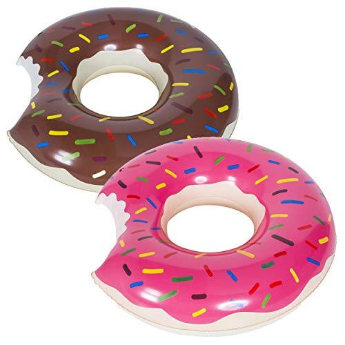 WENTS Schwimmring Donut mit Biss 70cm Floating-Ring Riesen Donut Aufblasbar Ring Luftmatratze Reifen Schwimmreifen für Erwachsene und Kinder, Aufblasbarer Luftmatratzen für Party, Pool, Strand