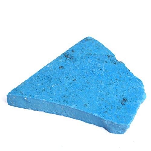 Gemhub Naturale Blu Turchese 375,50 Ct Mineral Rock Ruvido Guarigione Energia Cristallo Turchese BR-691