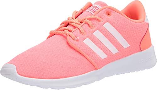 adidas Women's Cloudfoam Qt Racer Sneaker, Signal Coral/FTWR White/Shock Red, 8 M US