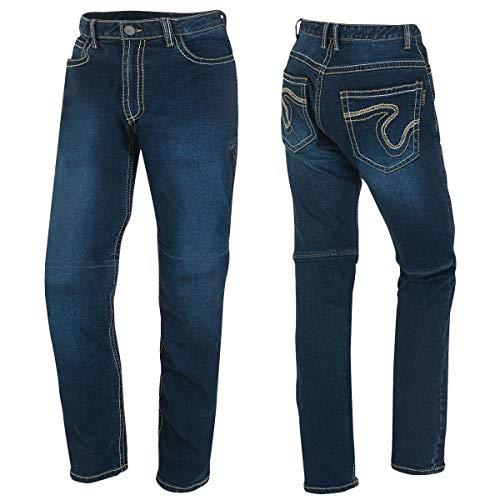 Germot Herren Motorrad-Jeans Jason, herausnehmbare Knie-Protektoren, Slim Fit, blau, Gr. 42/32