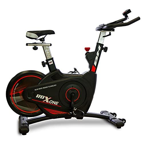 BH Fitness Bicicleta interior RDX One H9140. Resistencia magnética, volante trasero de 18 kg