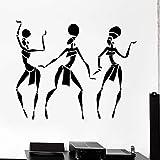 HGFDHG Calcomanías de Pared para Mujer Africana, Chicas Americanas, Bailes de Moda, Puertas y Ventanas, Pegatinas de Vinilo, Dormitorio de niñas, salón de Belleza, decoración de Interiores
