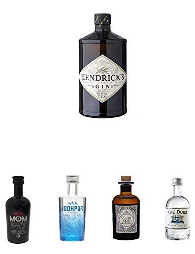 Hendricks Gin Small Batch 5 cl + Mom Gin MINIATUR + Jodhpur Dry Gin MINI + Monkey 47 Schwarzwald Dry Gin MINIATUR + The Duke München Dry Gin Bio 5 cl