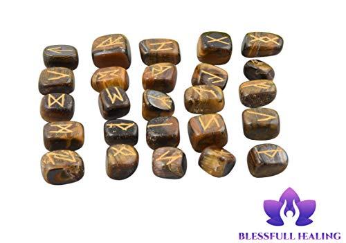 Blessfull Healing Piedras preciosas caídas de ojo de tigre con palabr