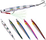 iBuuuy 5 pz Pesca Acqua Salata jig velocità Jigging Lento Jigging Pitching Esche, 6 cm/10g...