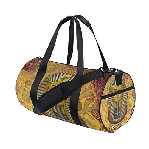 Tutankhamun Vintage Scrapbook Old Duffle Bag Schulter Handy Sport Gym Barrel Taschen für Damen und Herren