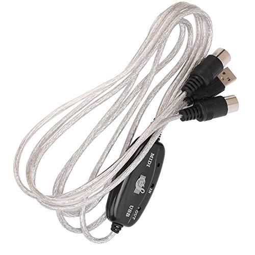 Cloudbox Cable USB Midi Cable de Interfaz Midi USB IN-out Cable Convertidor...