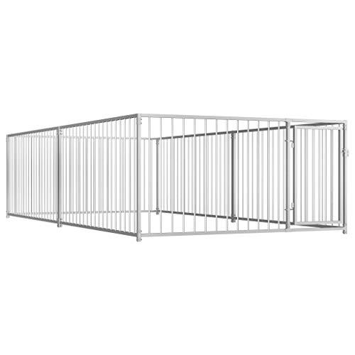 vidaXL Hondenkennel voor Buiten 200x400 cm Kennel Hondenhok Hondenbench Bench