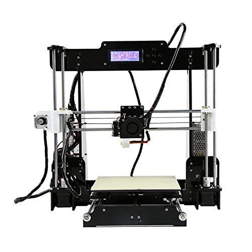 Stampanti 3D, CTC A8-W5 Pro Kit schermo stampante desktop 3D fai da te con telaio in legno antiurto antiurto, filamento stampante ABS PLA da 1,75 mm gratuito (Dimensioni 220 × 220 × 240 mm)