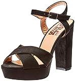 Refresh 69837, Zapatos de tacón con Punta Abierta para Mujer, Negro (Negro Negro), 37 EU