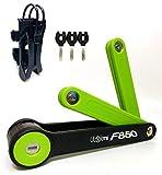 Serratura pieghevole per bicicletta, 85 cm, con staffa di montaggio e 3 chiavi, serratura compatta resistente alle intemperie per biciclette, scooter, bici elettrica, bicicletta pieghevole, montagna
