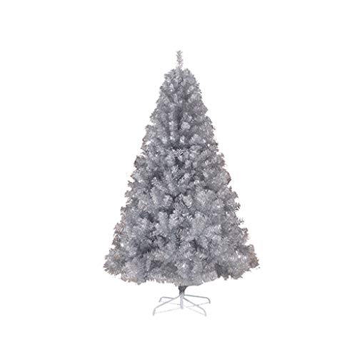 ZNZN Christmas Tree Silver No Decorations Christmas Tree Encrypted Silver Christmas Tree,for Christmas Hotel Decorate Artificial Christmas Tree Christmas Décor (Color : Silver, Size : 1.5m/4.9ft)