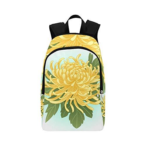 WJJSXKA Gym Backpack Splendid Fragrant Chrysanthemum Durable Water Resistant Classic Hanging Toiletry Travel Bag School Bag for Girls Best Backpack Casual Bags for Boys