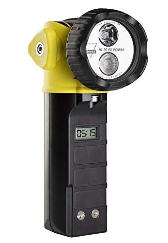 AccuLux 459781 - HL 30 EX POWER Lámpara de seguridad, cabezal flexible, Lámpara de mano a prueba de explosiones IP67 para uso en áreas peligrosas de gas y polvo, sin cargador