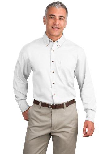 Port Authority® Long Sleeve Twill Shirt. S600T White M