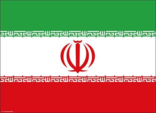 Tischsets   Platzsets - Iran Flagge - 10 Stück - hochwertige Tischdekoration 44 x 32 cm für iranische Feierlichkeiten, Mottopartys & Fanabende