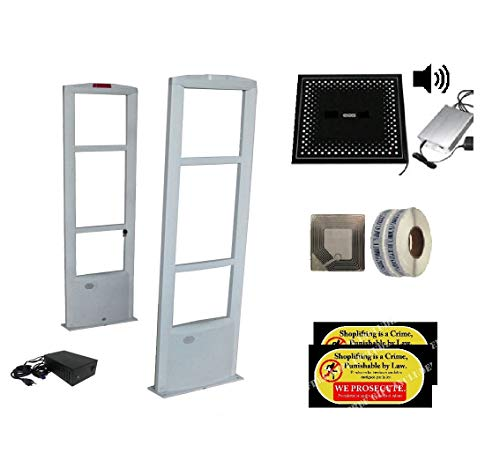 """Best Value Starter Sound Combo - 2000 Soft Sensor Labels + Glass Top Deactivator with"""" Sound"""" Feature + EAS Security Antenna System"""