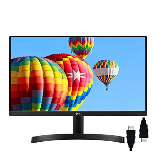 "LG 27 Class Premium IPS Flat Panel Ultra-Thin Bezel Monitor 27"" FHD (1920 x 1080) Resolution 5ms Response NTSC 72% AMD Freesync 1000:1 178° Viewing Angles HDMI VGA + Delca HDMI Cable"