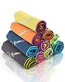 NirvanaShape ® Asciugamano Microfibra | 14 Colori | 8 Taglie | Asciugatura Rapida, Leggero, Assorbente | Asciugamano da Viaggio/Asciugamano da Bagno | Ideale per Viaggi, Spiaggia, Yoga, Sauna