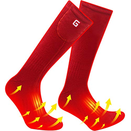 Heated Socks Kit Gifts for Men Women, Winter Warm Socks with rechargeable battery,Heat Thermal Sox for Skiing Hunting Cycling Working,Novelty Foot Warmers Electric Socks for Christmas Birthdays