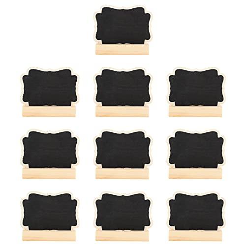 Artibetter 10 Juegos de Mini Pizarras con Soporte de Caballete Pizarra Pequeña Tablero de Mensajes Pizarras Tarjetas de Lugar para Números de Mesa Señales de Alimentos