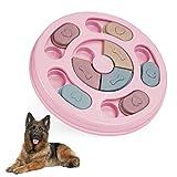 Juego de Puzle para Perro, Juguete de Puzle para Perro, Dispensador de Premios Interactivo para Perros, Juego Interactivo de Cuenco Que se Mueve Training de Mascotas Mejora el IQ(Rosado)
