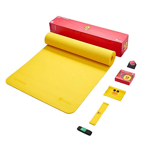 NBJ Yoga Mat, Eco Friendly NBR, Non-Slip Exercise Mat with Carry Strap for Yoga, Pilates, and Gymnastics Available Packing Box Yoga Mat Elastic Band Elastic Ring Yoga Mat Strap- 183cm x 61cm x 0.7cm