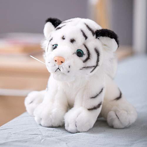 Pluche Simulatie Little Tiger Knuffel Schattige Siberische Tijgerpop Witte Tijger Ragdoll-White_20cm