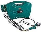 VONROC Tragbarer Kompressor 1100 W – 8 bar – Ölfrei – 180 l/m – Inkl. 11 Zubehörteile