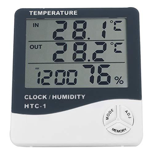 Intuitives Display Hochauflösendes Display Einfach zu bedienendes digitales Hygrometer Hygrometer Wasserdicht, zur Temperaturmessung, zur Temperaturmessung