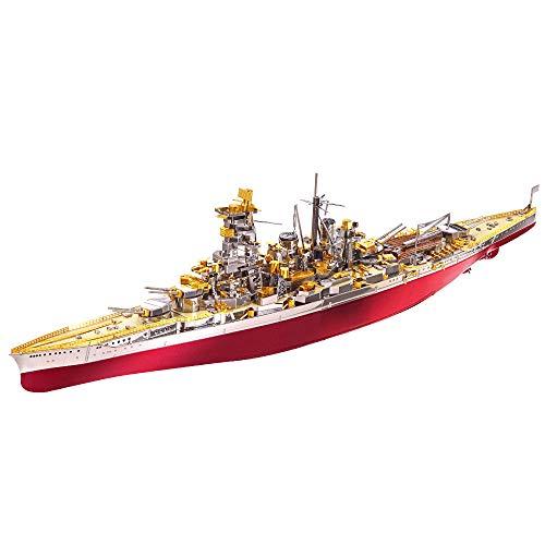 piececool Puzzle 3D de metal para adultos, Kongo BATTLESHIP, 350 piezas, maqueta de metal
