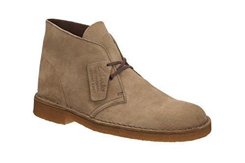 Clarks Originals Desert Boot, Stivali Chukka Uomo, Grigio (Wolf), 44