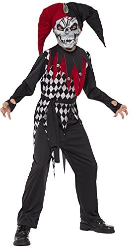 Halloween - Disfraz de Arlequín Malvado para niños, infantil 8-10 años (Rubie's 630925-L)