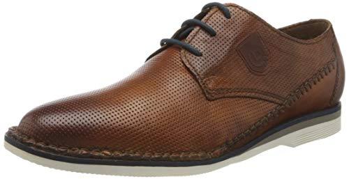 Bugatti 311892014100, Zapatos de Cordones Derby Hombre, Marrón (Cognac 6300), 40 EU