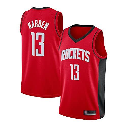 Wo nice Uniformes De Baloncesto De Los Hombres, Houston Rockets # 13 James Harden NBA Summer Basketball Jerseys Sin Mangas Tops Sueltos Camisetas Chalecos Deportivos,Rojo,S(165~170CM)