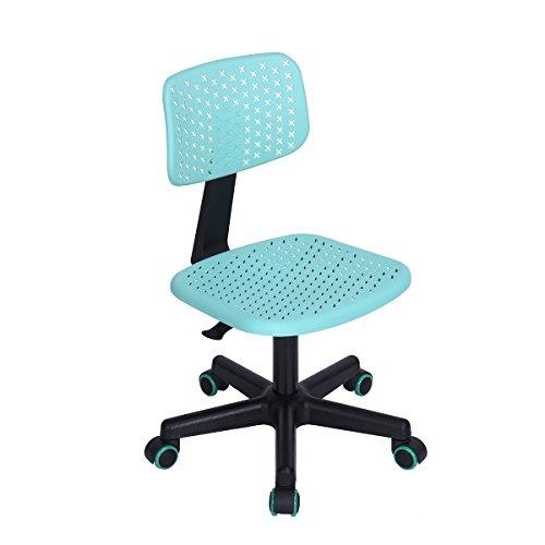 FITATHOME Bürostuhl für Kinder, verstellbar, drehbar, Kunststoff, Türkis