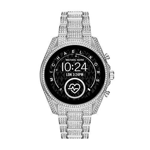 Michael Kors Women's Bradshaw 2 Stainless Steel Touchscreen Smartwatch , Color: Silver (Model: MKT5124)
