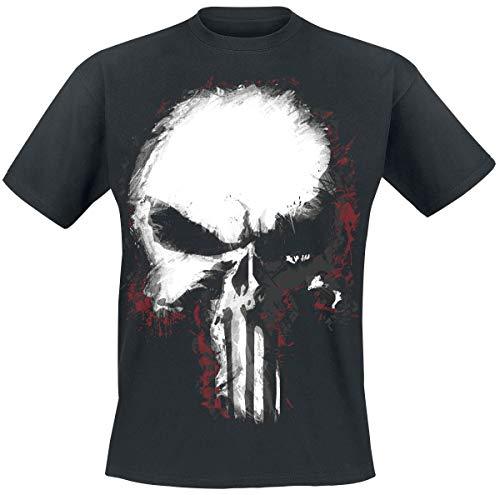The Punisher Shattered Skull Uomo T-Shirt Nero M 100% Cotone Regular