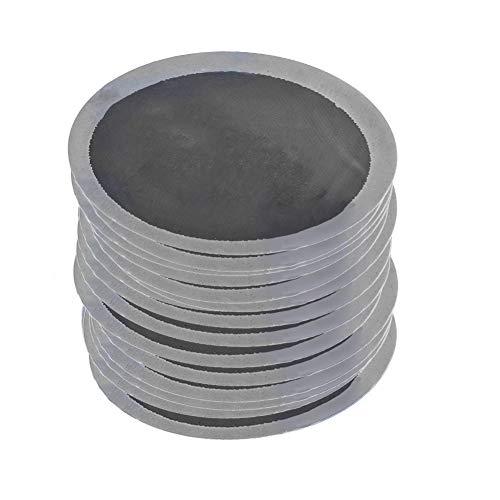 Parche Universal para reparación de neumáticos EVTSCAN, 200 unids/Caja 32 mm, Parches sin cámara para reparación de pinchazos de neumáticos de Caucho Natural Redondo para Coche